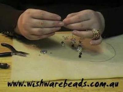 Pearl Earrings Swarovski @Wishware Beading Classes