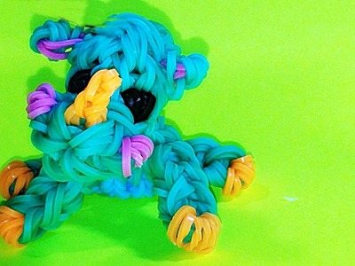 Rainbow Loom Baby Rhino Animal Charm: How to Make Loom Bands DIY