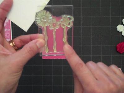 Ribbon Rose Greeting Card-Part 1