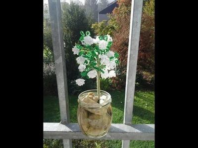 Rosenbusch aus Glasperlen. Perlen für Anfänger. Bush of roses out of beads. Glass Beadmaking