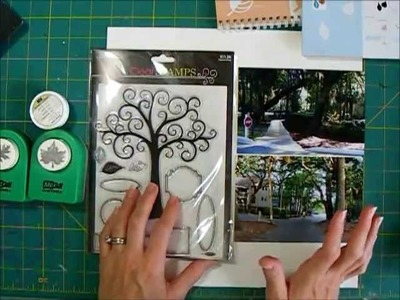 Scrapbook Page Process Watercolors, Gelatos and Leaf Punch embellishment
