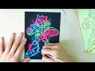 Scratch Art - How to do Scratch Art with Stencil