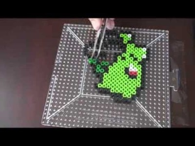 Shiny Pokemon Perler Beads ep 1: How to make Bulbasaur