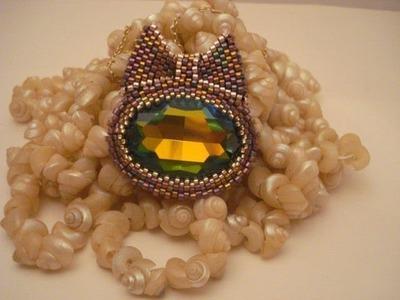 Swarovski ribbon pendant: my handmade jewelry | beadwork