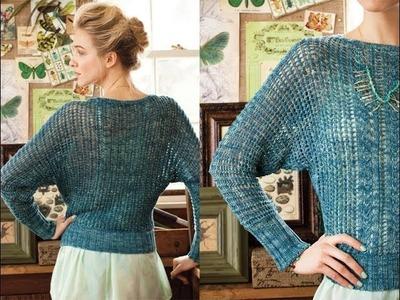 #2 Mesh Sleeve Dolman, Vogue Knitting Spring.Summer 2013