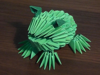 3D origami frog (toad) tutorial (for beginners)
