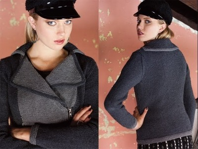 #9 Traditional Moto Jacket, Vogue Knitting Winter 2013.14