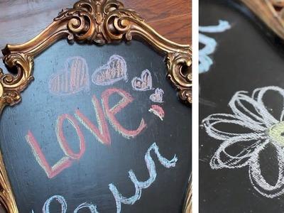 Apartment Decor DIY: Mirror to Chalkboard