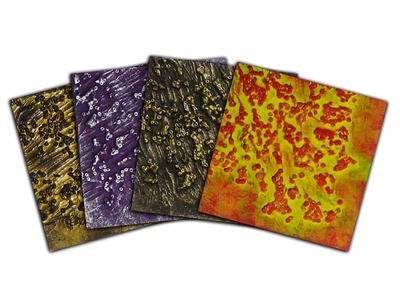 Art Texture Samples - Gel Medium & Seed Beads