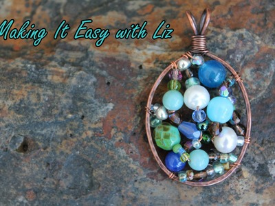 Beaded Wire Frame Pendant - Part III
