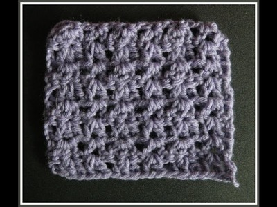 Beginner Crochet Double Triple V stitch Pattern
