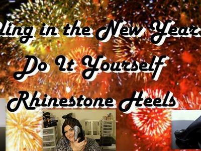 Bling in the New Year! DIY Rhinestone Heels