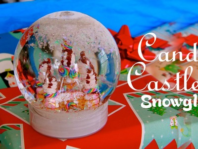 Candy Castle - How To Make A Miniature Gingerbread House Snow Globe - DIY