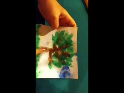 Craft Ideas ( finger print art)
