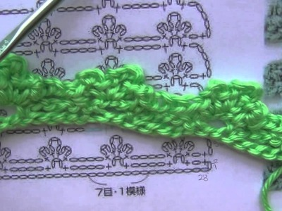 Crochet a lacy stitch using a Pattern with Symbols