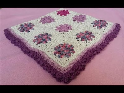 Daisy Granny Square Blanket - Part 4 (Crochet Tutorial) - Perfect method for Joining Squares