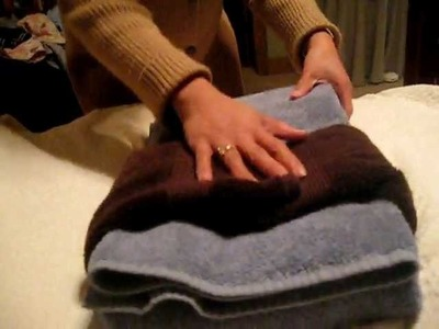 Decorative Folding for Gift: Bath Towels