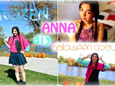 ❄DIY Anna FROZEN Halloween Costume!⛄