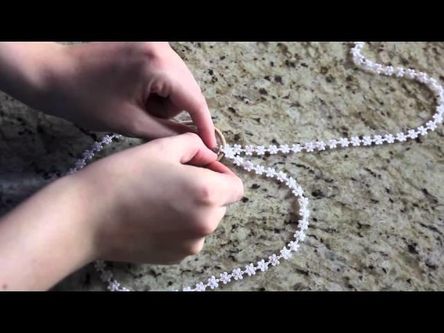 DIY Double Stranded Lace Headband