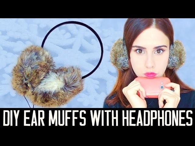 DIY ear muffs with headphones! EASY | Gift idea
