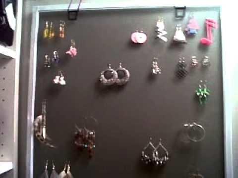 DIY: Earring Rack ♡ Theeasydiy #Organization