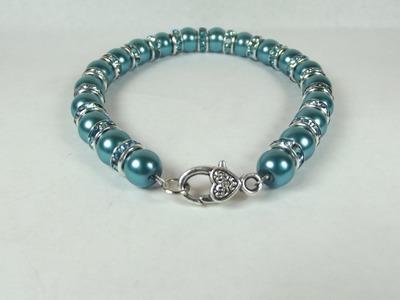 DIY:  Easy beaded Pearl Bracelet