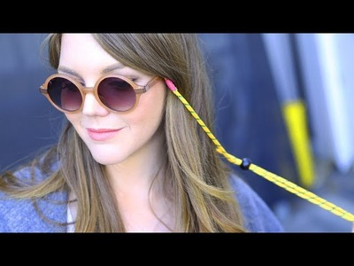 DIY Fashion | Neon Cord Sunglass Holder | Designer DIY
