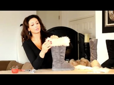 DIY how to decorate a plain Ugg into a designer looking Ugg