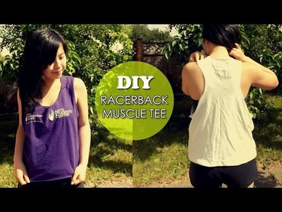 DIY: How to Make a Racerback Muscle Tee - No Sew! {Sew Easy Please}