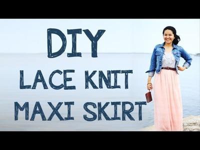 DIY LACE KNIT MAXI SKIRT