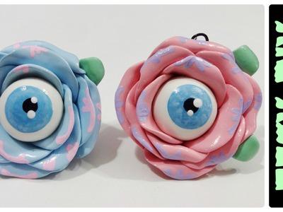 "DIY Pastel Goth ""Creepy Rose"" | EASY Polymer Clay Charms |"