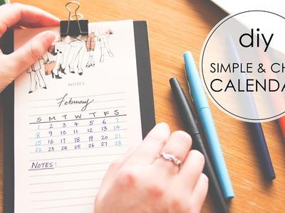 DIY | Simple & Chic Desktop Calendar