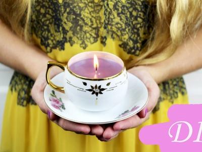 DIY Teacup Candle Vintage Home Decor