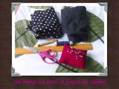 DIY Tutorial: Make Your Own Mini Makeup Bag by berrypink23