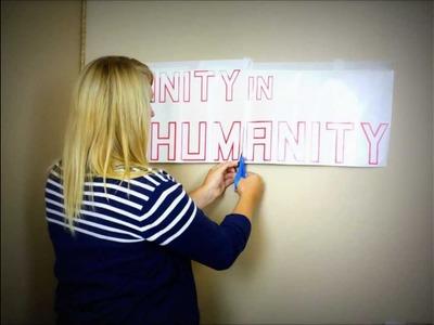DIY Wall Lettering Tutorial