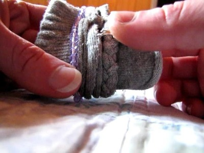 DIY What to do with old socks - Easy comfy, wrap, sweatband, bracelet thingies.