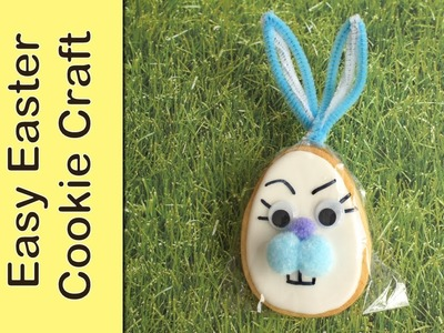 Easter cookie craft decorate your bag with bunny accents