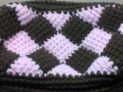Entrelac Crochet Handbag.purse.pouch pattern