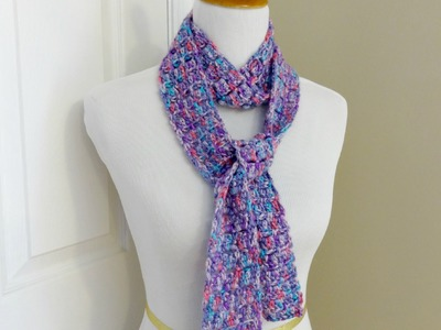 Episode 89: How to Crochet the Sugar Violet Skinny Scarf