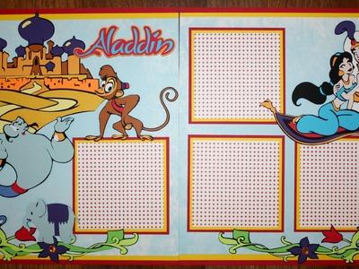 Faith Abigail Designs - Aladdin Scrapbook Layout Tutorial