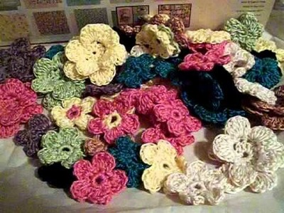Handmade crochet flowers by Jennerator74 for sale at Kellyjp29 ebay.