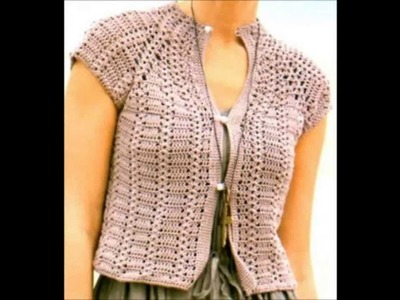 How to crochet shrug bolero free pattern for beginners - ganchillo bolero,crochê bolero