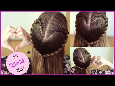 How to :  DIY  Valentine's Day Heart Hair Tutorial | Valentine's Day Ideas