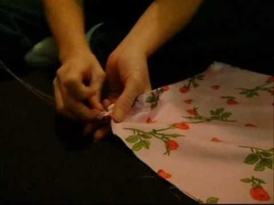 How to make a handsewn pillow case.
