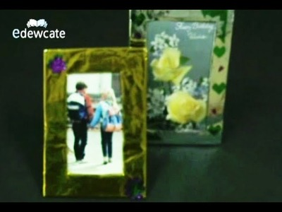 How to make a photo frame by Edewcate Crafts