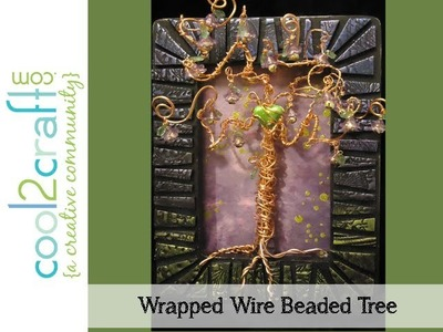 How to Make Wire Wrapped Beaded Tree Wall Art by Candace Jedrowicz