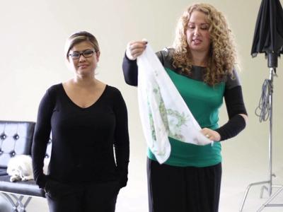 How to Tie a Short Scarf Around a V-Neck : Fashion & Scarves