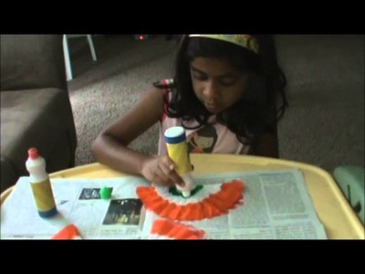 India Flag Banner - Kids Craft