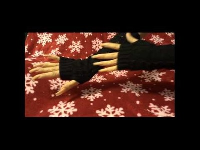 Lady Girl Stretchable Weave Knit Arm Warmer