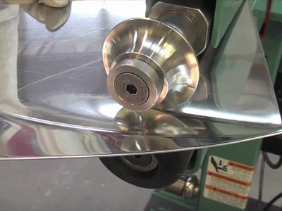 Lazze Metal Shaping: Stainless Steel Panel in the Bead Roller